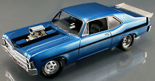 GMP 1970 Chevrolet Nova 1320 Drag Series - Le Mans Blue with Black Stripes 1/18