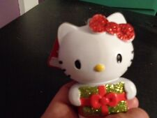 2013 SANRIO HELLO KITTY GLITTERY RED BOW CHRISTMAS ORNAMENT HOLDING GLITTER GIFT