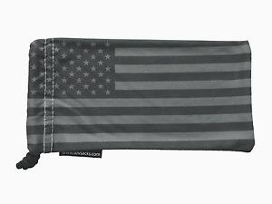 American Flag Black and Gray - High Quality Microfiber Soft Case - Sunglasses