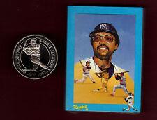 "REGGIE JACKSON ""Special"": 1994 Liberia coin PLUS 1984 30-card set of Mr. October"