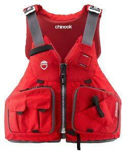 NRS Chinook Fishing PFD 2020 Life Jacket   Kayak Anglers- RED SIZE XL/XXL