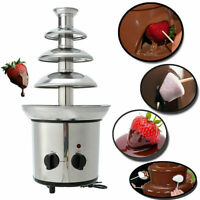 4 Tiers Commercial Stainless Steel Hot Chocolate Heated Melting Fondue Fountain