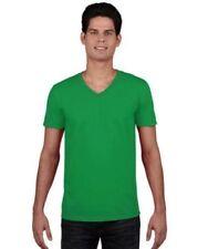 Magliette da uomo verdi scollo a v m
