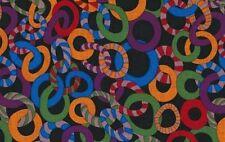 Kaffe Fassett Collective Brandon Mably Jolly PWBM040-Black Cotton Fabric BTY