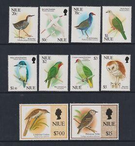 Niue - 1992, 20c - $15 Birds set - Excludes $10 value - MNH - SG 718/29