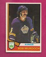 1974-75 OPC # 194 KINGS BOB MURDOCH  ROOKIE EX-MT CARD (INV#2016)