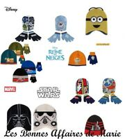 DISNEY MINONS - Bonnet et gants Mickey, Planes, Star Wars, Spiderman - Neuf