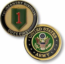 """U.S. Army / 1st Infantry Division - """"Duty First"""" Challenge Coin"""