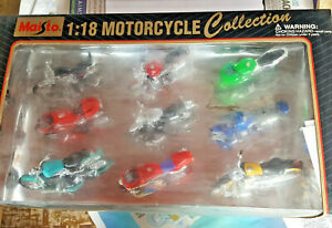 MAISTO 9 MOTORCYCLE COLLECTION SCALE 1:18 NEW BUT OLS STOCK