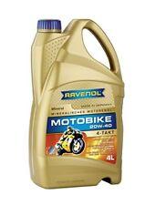 RAVENOL J1V1005-004 SAE 20W-40 4-Stroke Motorcycle Oil - 4-T Mineral JASO MA2...