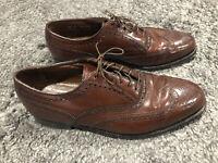 Vintage Florsheim Imperial Wingtip Mens Dress Shoe Size 7.5 D Brown