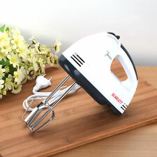 Safe 7 Speed Electric Hand Mixer Whisk Egg Beater Cake Baking Mains Powered 180W