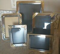 Lot of 5+Vintage gold brass metal tone photo picture frames ornate decor retro