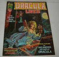 Stan Lee Present DRACULA LIVES # 7 Classic Vampire Horror Cover Comic Magazine