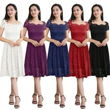 Womens Lace maxi Dress Ladies Plus Size Summer Evening Party Cocktail Size 6 -12