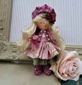 Rag doll handmade in the UK Tilda doll Ooak doll Cloth doll DANI 6 inch tall