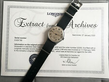 Longines WW2 Military watch cal. 23M -  with certificate of authenticity