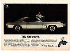 1969 PONTIAC FIREBIRD 400 RAM AIR IV ~ ORIGINAL PRINT AD