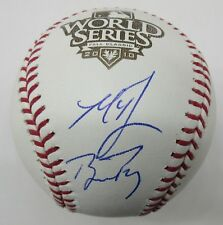 Buster Posey Madison Bumgarner Signed / Autographed 2010 World Series Baseball