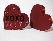 VALENTINES DAY WOODEN STAR DECORATION HAND MADE RED & PINK HAND PAINTED.PIC HOLD