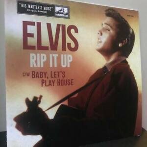 """ELVIS PRESLEY, RIP IT UP HMV UK single (sleeve cover only) 7"""" RECORD COVER"""