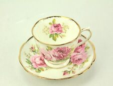 Royal Albert AMERICAN BEAUTY Pink Roses Bone China Tea Cup & Saucer ENGLAND