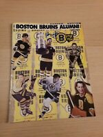 John Bucyk Autographed 1998-1999 Boston Bruins Alumni Program Signature Signed