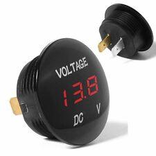 DC 12V-24V Car Motorcycle Red LED Panel Digital Display Volt Voltage Gauge Meter