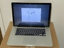 "Apple MacBook Pro 15"" Mid 2012 A1286 i7 2.6gHz 8GB RAM 750GB HD 1GB VRAM"