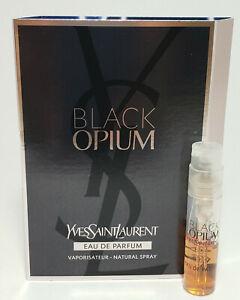 New Yves Saint Laurent BLACK Opium EDP 1.2 ml / 0.04 fl oz vial low filled