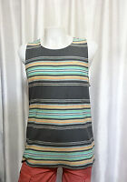 Vans Off The Wall mens skate HIGHLAND RAVEN striped cotton tank top S M L NEW