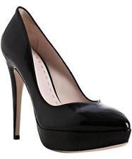 MIU MIU Prada Classic Black Patent Leather Platform Pumps Shoes Heels 41 EU $560