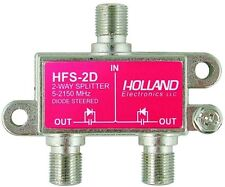 2 Way HOLLAND Coax Splitter HFS-2D Dish Network Cable CATV HD 2way 5-2150Mhz red