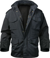 Storm Field Jacket Black Military Nylon Tactical M-65 Rothco 8644
