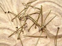 "4417FY Antiqued Brass ptd Steel HEADPIN Head Pin Very Strong 3/4"" 20 ga, 100 Qty"