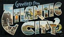 ATLANTIC CITY, NJ FRIDGE MAGNET - Greetings from Atlantic City - Vacation Time
