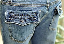 BEAUTIFUL DOLL HOUSE  SIZE/9   BOOT CUT DENIM / EMBELLISHED JEANS   SIZE 9