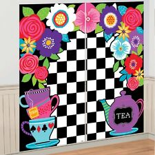 Alice in Wonderland Party Wall Decoration Scene Setter Photo Backdrop Mad Hatter