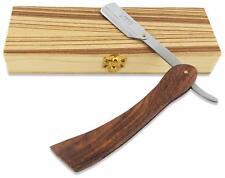 Common Wealth Wood Straight Edge Classic Folding Barber Shaving Razor Case Shave
