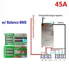 48V 45A LiFePo4 Battery BMS LFP PCM SMT System 16S 16x 3.2V eBike Battery 16x 3V