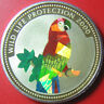 2000 CONGO 10 FRANCS SILVER PROOF PARROT HOLOGRAM HOLOGRAPHIC WILDLIFE RARE!