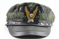 RETRO MILITARY INSPIRED SUEDE FEEL DARK BROWN EAGLE PATCH HAT (HT7)