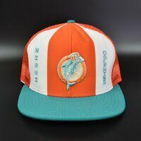 Miami Dolphins AJD Lucky Stripes NFL Vintage 80's Trucker Snapback Cap Hat
