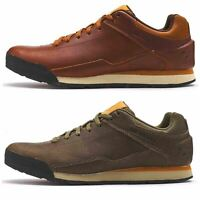 Merrell Burnt Rocked Leather Lace Up Casual Trainers in Dusty Green & Robe Brown