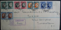 South Africa Suid-Africa 1937 Coronation KG VI Registered Simonstown CDS