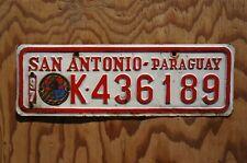 1997 San Antonio Paraguay License Plate