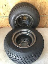 16 x 6.50-8 NHS 2 Pack Wheel & Tire Assembly Rear Walk Behind Mower 4 Hole Lug