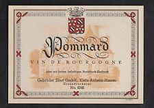 Ancienne étiquette Alcool Allemagne France BN8871 Pommard Bourgogne années 50