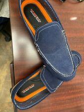 Hawk & Co Mens Moccasins Shoes Blue Memory Foam Slip On Size 12