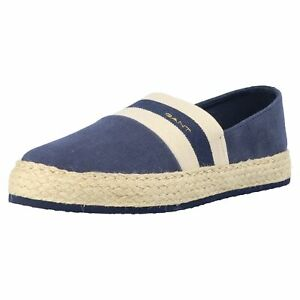GANT 'Raffiaville' Damen Leichter Sommer Slipper Espadrille Textil Schuhe Neu
